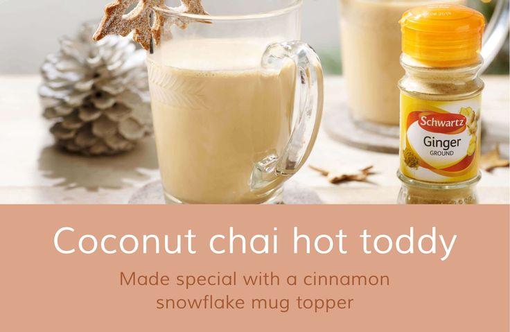 Coconut chai hot toddy