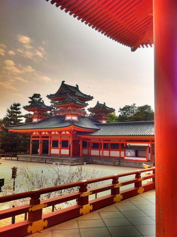 Heian temple, Kyoto, Japan