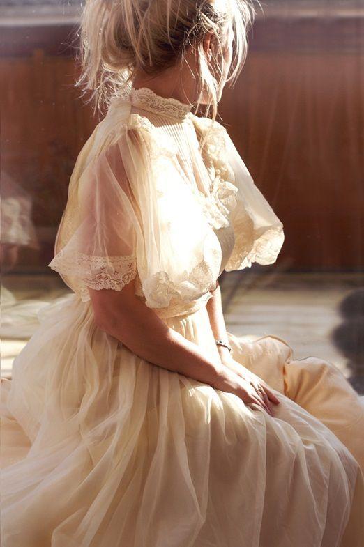Romantic Victorian inspired wedding dress