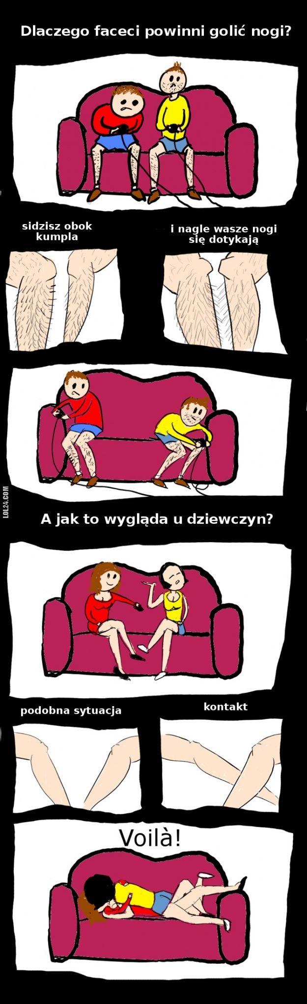 Dlaczego faceci powinni golić nogi? #golenie #nóg #faceci #dlaczego