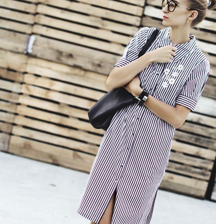 Стильное платье-рубашка в полоску от Devita