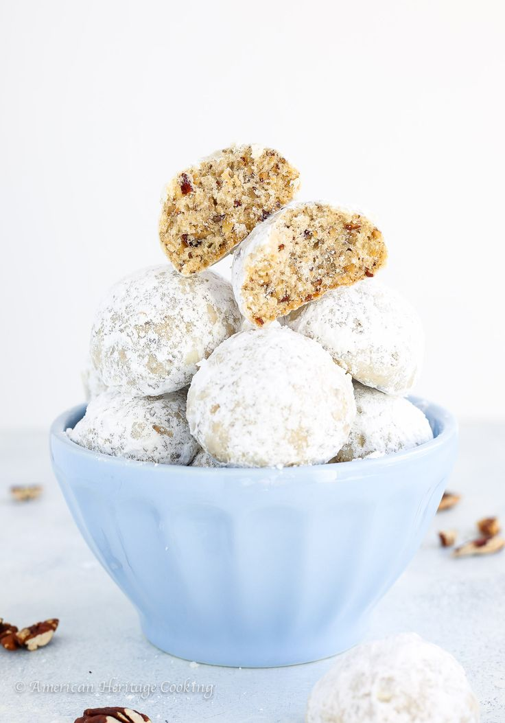 These Pecan Puffs (a.k.a. Mexican Wedding Cookies or Russian Tea Cakes)  are the perfect combination of crumbly and soft. They literally melt in your mouth!
