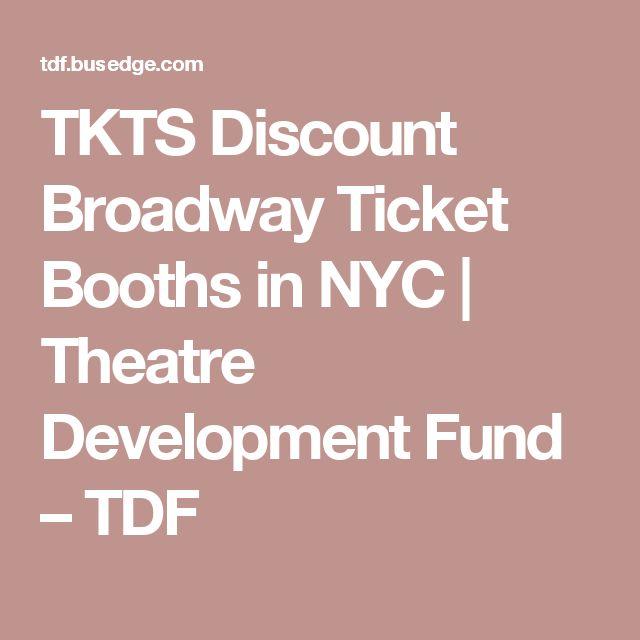 TKTS Discount Broadway Ticket Booths in NYC   Theatre Development Fund – TDF