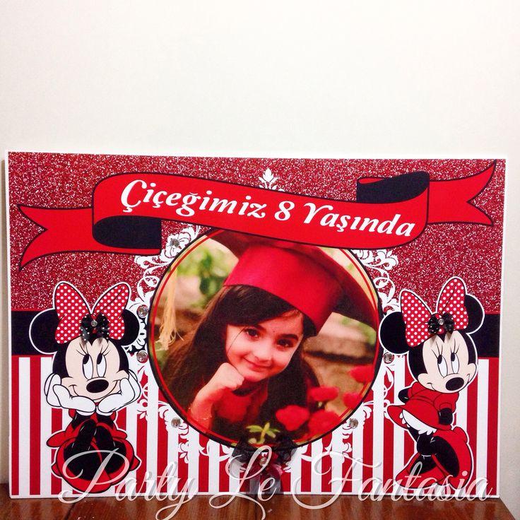 Minnie mouse temalı parti panosu