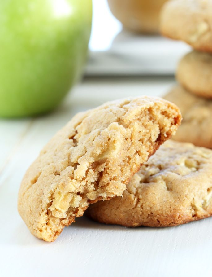 Thick and Chewy Gluten Free Apple Peanut Butter Cookies ...
