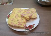 Яичный #пирог с сыром и сосисками - вариант быстрого воскресного завтрака http://photo-recipes.com/recipe/yaichnyy-pirog-s-syrom-i-sosiskami #recipe #eggs #breakfast #завтрак #рецепт #food