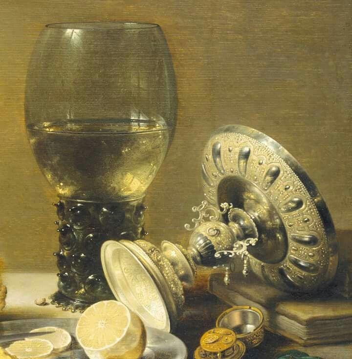 "Detail: Pieter Claesz, ""Still Life with Tazza"", 1636"