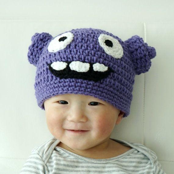 Oh Hat Boov Hat Home Hat Crochet Baby Hat Alien by stylishbabyhats