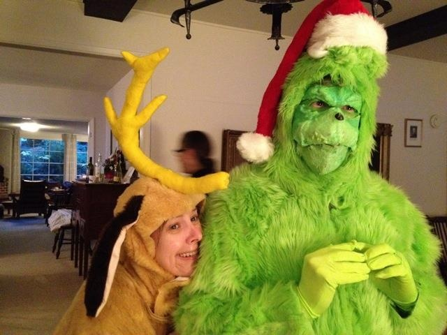 2011 Santa Rampage costume.  The Grinch and Max