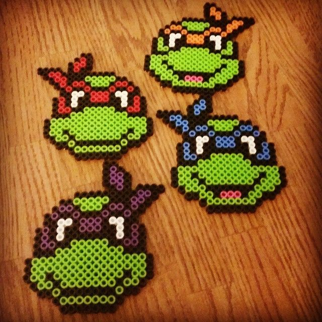 TMNT perler beads by jdisco86