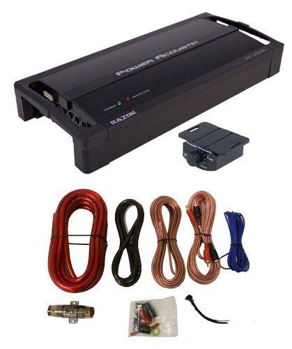 "POWER ACOUSTIK RZ1-2300D 2300W Monoblock Car Audio Amplifier RZ12300D + Amp Kit. Max Power: 2,300 Watts. RMS Power 2O, 14.4V: 1,400 Watts. RMS Power 4O, 14.4V: 900 Watts. Small Compact 4.75"" Wide Chassis. 4-ohm Bridged/2-ohm Stereo Class D Full Range."