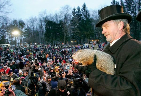 Groundhog Day, Punxsutawney, Pennsylvania  Can't believe this festival really exists! I thought it was simply an Hollywood idea for a comedy. Cool!