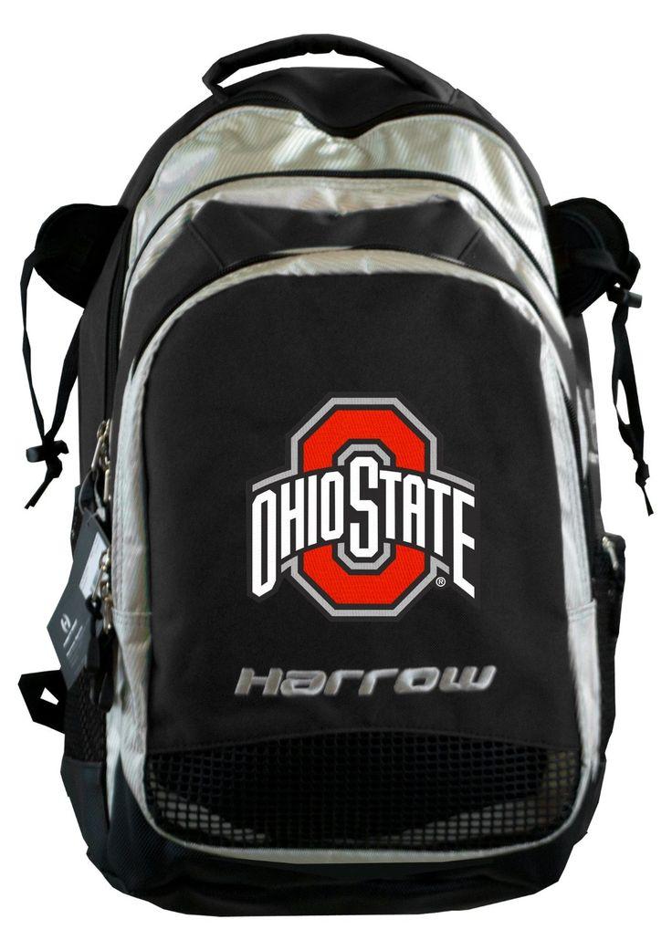 OSU Buckeyes Harrow Field Hockey Backpack Ohio State Lacrosse LAX or Hockey Bag Black