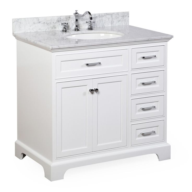 Aria 36-inch Vanity (Carrara/White) – KitchenBathCollection