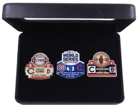 Chicago Cubs 3-Time World Series Champions Pin Set - 1907, 1908, 2016
