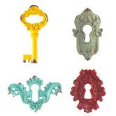 Pewter Key & Key Hole Embellishments