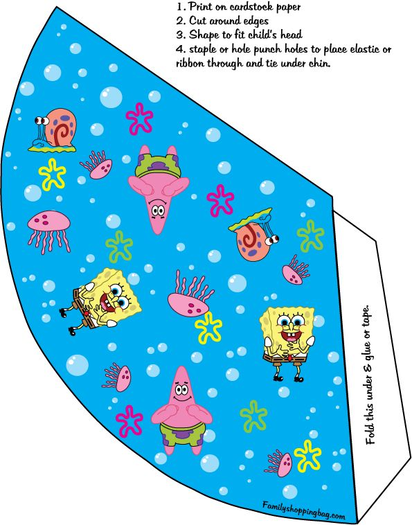 spongebob party hat...I would use this as a template...