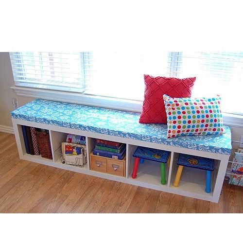 new ikea expedit storage bench stool seat shelving unit multi use white - Kids Room Storage Bench