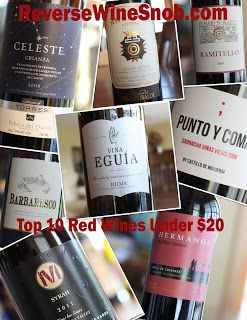 The Reverse Wine Snob Top 10 Red Wines Under $20 - Fall Edition! http://www.reversewinesnob.com/2013/08/top-10-red-wines-under-20.html