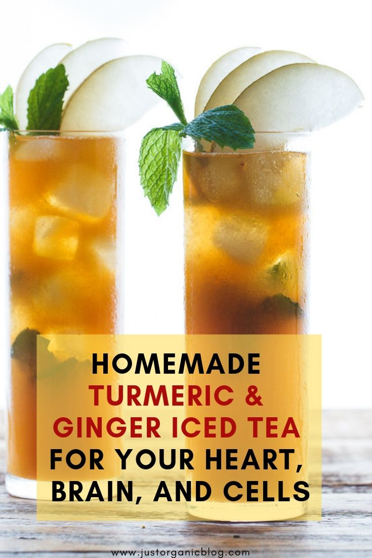 Homemade Turmeric & Ginger Iced Tea for Your Heart, Brain, and Cells – Jean castor