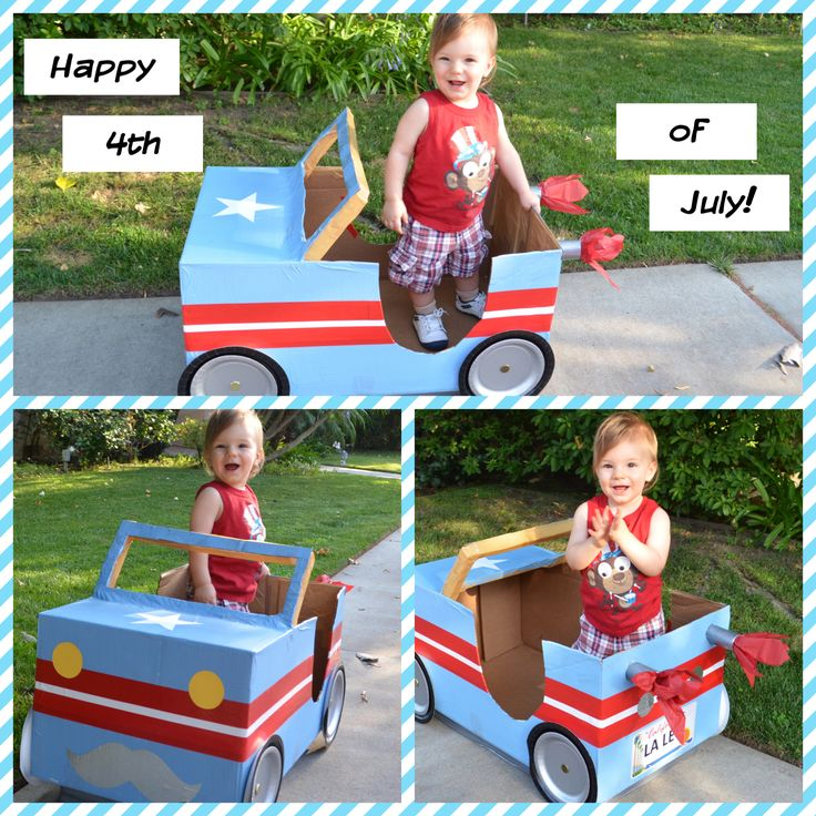 How to make a cardboard box car... Step by step tutorial.