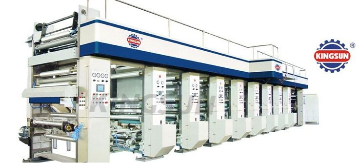 rotogravure printing machine used to print on PVC films and packaging items such as polythene sheets and many other flexible packaging materials.