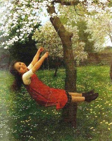 Girl on a Swing, 1909 ~ Carl Von Bergen ~ (German: 1953-1933)