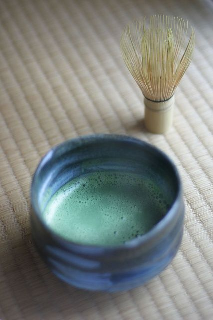 Japanese matcha tea.