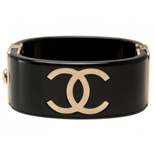 Pre Owned Chanel Black Plastic Bracelet 780 Liked On Polyvore Featuring Jewelry Bracelets Preowned
