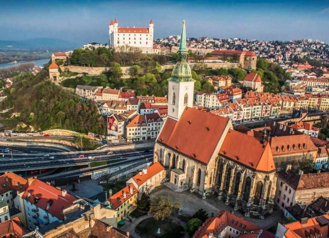 St. Martin's Cathedral and the Castle   Courtesy of Bratislava Tourism Board