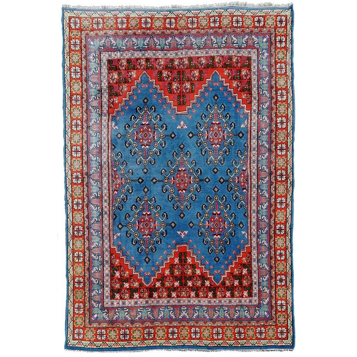 Diamond Basic Porcelain Blue Persian Style Wool Area Rug: 136 Best Images About Moroccan & Moorish Design On