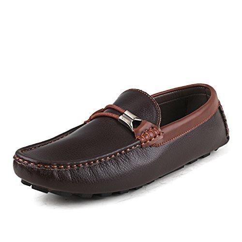 Oferta: 129€ Dto: -69%. Comprar Ofertas de Shenduo Zapatos Vestir - Mocasines de piel sin cordones antideslizantes para hombre D3358 Marrón 39 barato. ¡Mira las ofertas!