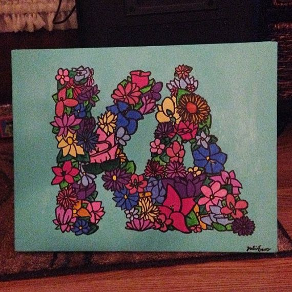 Kappa Delta Canvas Painting by paintinggypsyy on Etsy