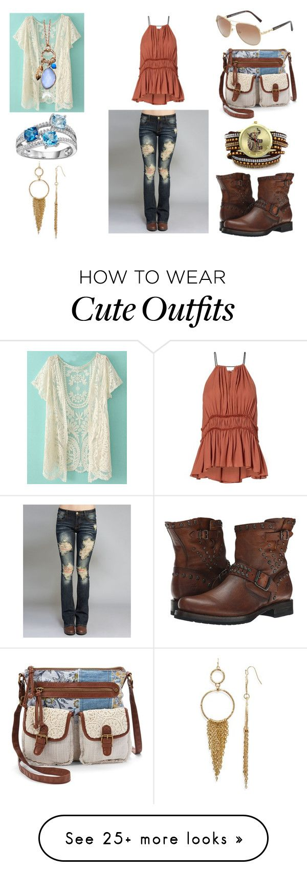 """""""Cute School Outfit"""" by holly32196 on Polyvore featuring Wet Seal, Mudd, Frye, Aqua, Argento Vivo, Michael Kors, BackToSchool, cute, outfit and chic"""