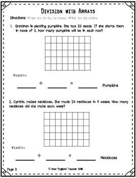 what is a division array problem