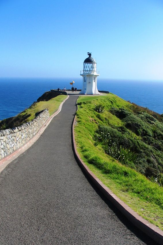 Cape Reinga, New Zealand - northern most point of NZ where the Pacific Ocean and the Tasman Sea meet