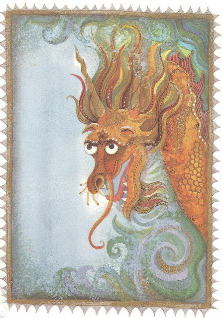 Jane Ray - An illustration to The Orchard Book of Mythical Birds and Beasts