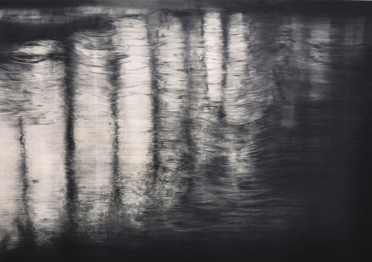 ripple#3 | Koyuki Kazahaya mezzotint drypoint www.cullowheemountainarts.org artist workshops in printmaking and more