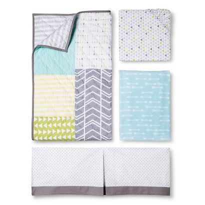 ❤️❤️❤️ this is the bedding!!   Circo® Geo Patchwork Baby Collection