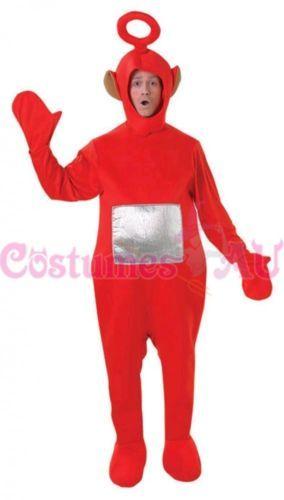 Adults Teletubbies Costume Licensed Party Fancy Dress Outfit Unisex Jumpsuit