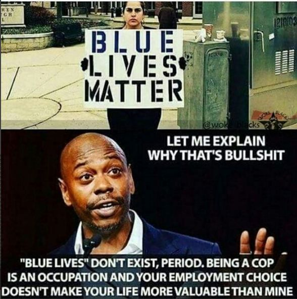 Wtf? Yes it's their job they signed up to help people. This is bringing awareness to the fact that they are human too, everyone's lives matter. This is what the black lives matter 'movememt' has left in its wake. Sure black lives matter, honestly awareness should be brought to it, but not it that matter to imply that blue lives, or any other lives, don't matter.