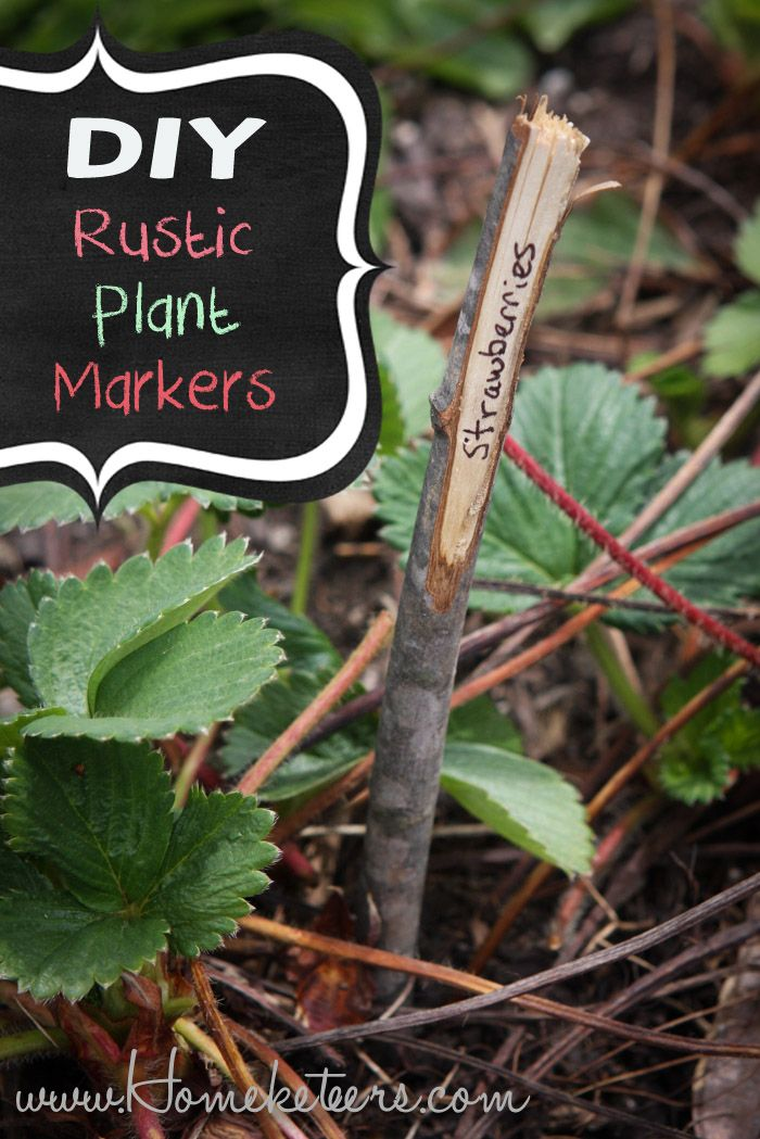 DIY Rustic Twig Garden Plant Markers | Outside Time ...