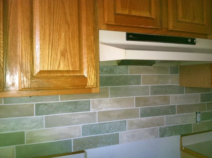 Painted Backsplash! BacksplashKitchen RemodelingBathroom IdeasChallenges Kitchen ...