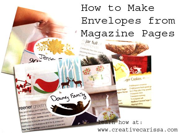 How to Make Envelopes from Magazine Pages