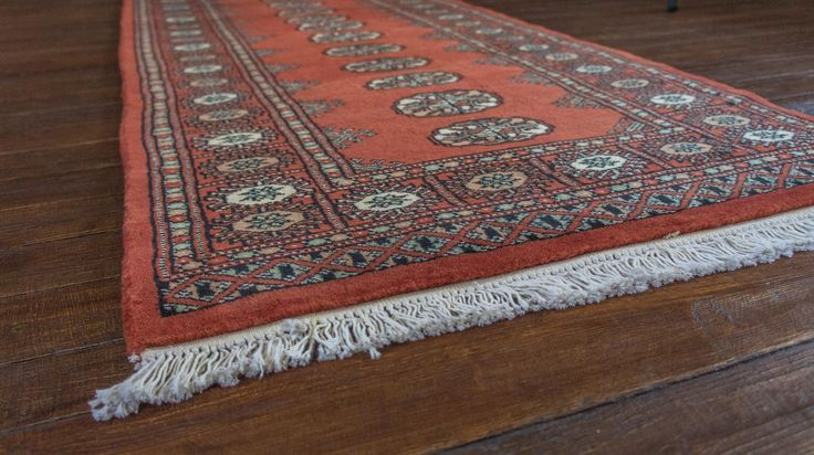Hand knotted bokhara runner from pakistan length 489 0cm by width