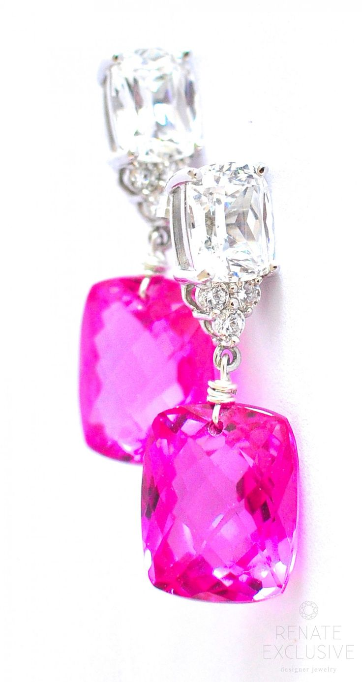 SALE! Pink TOPAZ earrings by www.renate-exclusive.com