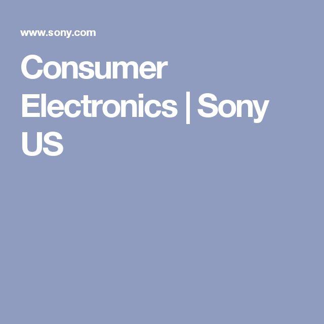 Consumer Electronics   Sony US