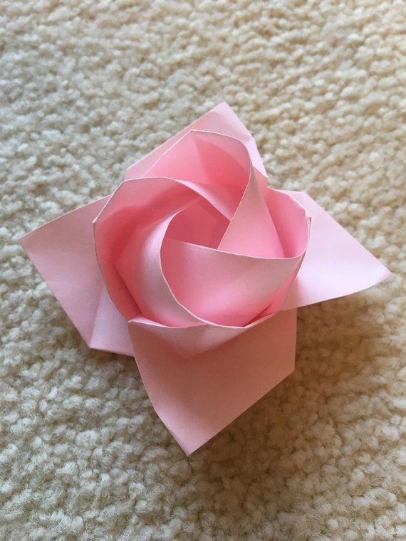origami rose origami papier origami origami et pliage serviette. Black Bedroom Furniture Sets. Home Design Ideas