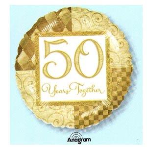 "50 Years Together 18"" Mylar Balloon"