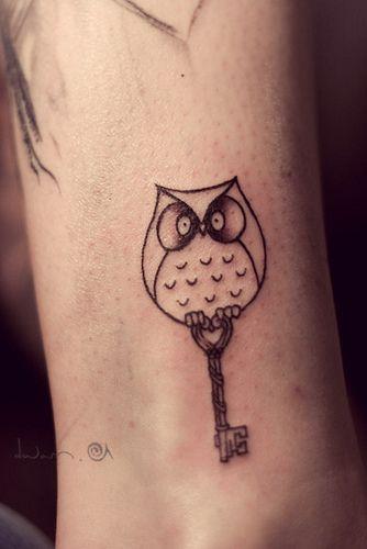 Couples Tattoo, Tattoo Ideas, Tattoo Pattern, Owls Tattoo, Baby Owls, Skeletons Keys, A Tattoo, Keys Tattoo, Owl Tattoos